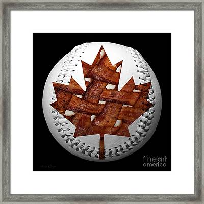 Canadian Bacon Lovers Baseball Square Framed Print by Andee Design