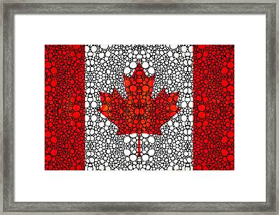 Canadian Flag - Canada Stone Rock'd Art By Sharon Cummings Framed Print by Sharon Cummings