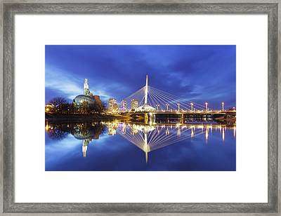 Canadian Museum For Human Rights Framed Print by Ken Gillespie
