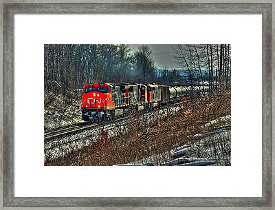 Canadian National Railway Framed Print by Karl Anderson