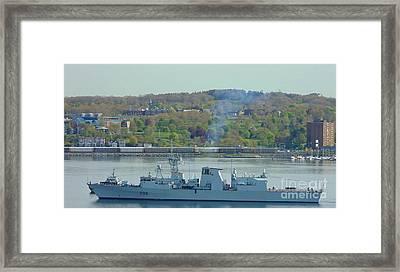 Canadian Navy Framed Print by John Malone
