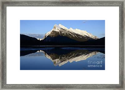 Canadian Rockies Mount Rundle 1 Framed Print by Bob Christopher
