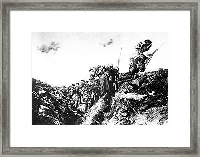 Canadian Troops Training Framed Print by Us Air Force