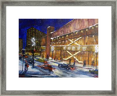 Canadiens Hockey At Montreal Forum Framed Print by Brent Arlitt