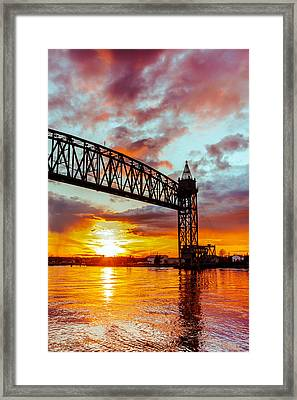 Canal Sunset Framed Print by Dean Martin
