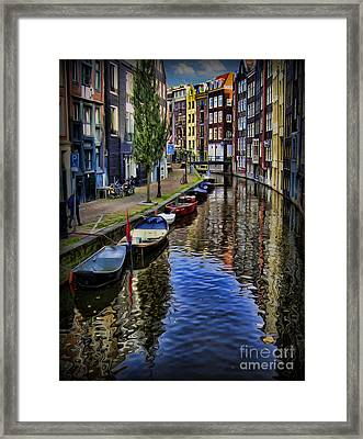 Canals Of Amsterdam Framed Print by Lee Dos Santos