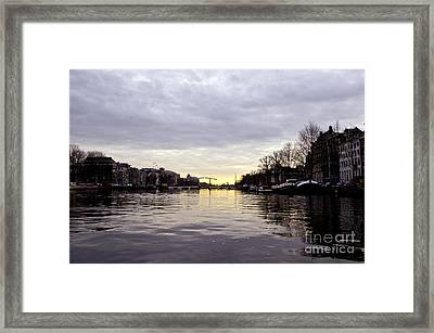Canals Of Amsterdam Framed Print by Pravine Chester