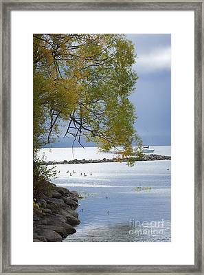 Canandaigua Lake Outlet Framed Print by Roger Bailey