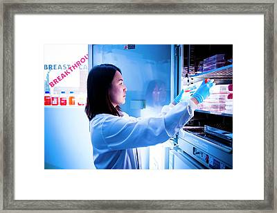 Cancer Research Framed Print by Dan Dunkley