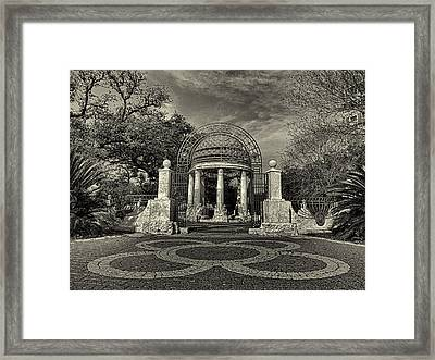 Cancer Survivors Plaza Black And White Framed Print by Joshua House