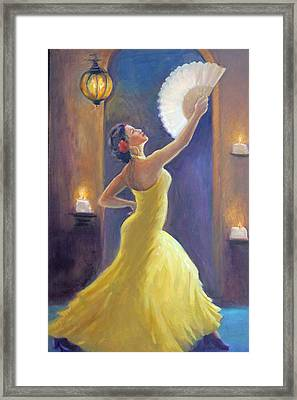 Candelight Castinetts Framed Print by Gwen Carroll