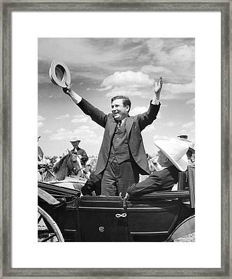 Candidate Wendell Willkie Framed Print by Underwood Archives