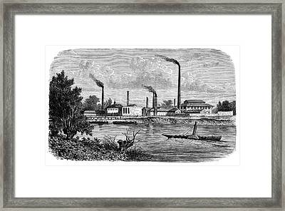 Candle Factory Framed Print by Science Photo Library