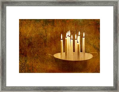 Candle Light Framed Print by Heike Hultsch