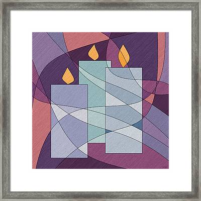Candle Light Framed Print by Val Arie