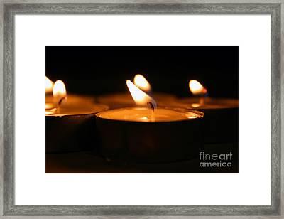 Candle Lights Framed Print by Dan Radi