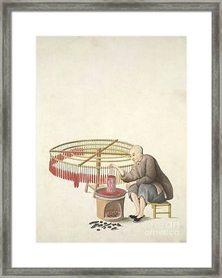 Candle-maker, 19th-century China Framed Print by British Library