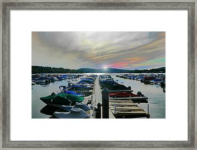 Candlewood Lake Framed Print by Diana Angstadt