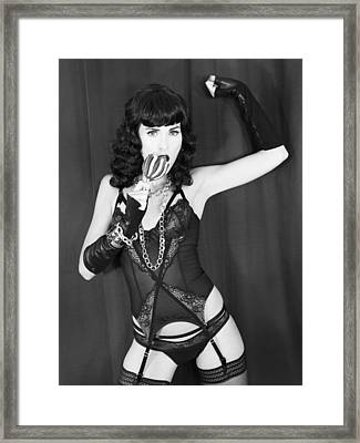 Candy Apple Dame Bettie Framed Print by William Dey