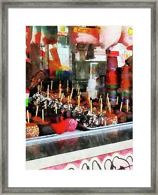 Candy Apples Framed Print by Susan Savad