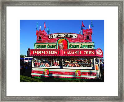 Candy Castle And Shadow People Framed Print by Paddy Shaffer