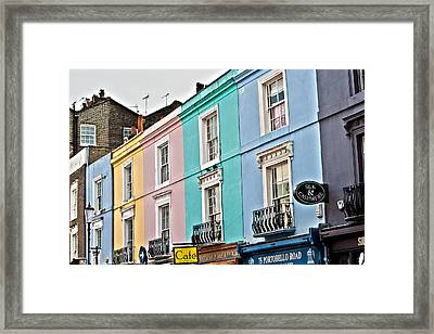 Candy Houses Framed Print by Georgia Fowler