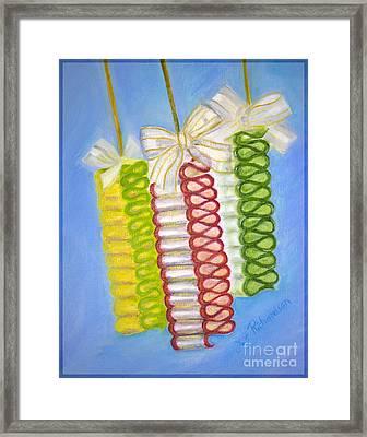 Candy Ribbon  Framed Print by Iris Richardson