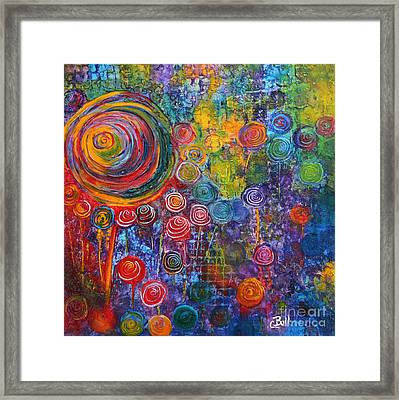 Candyland Framed Print by Claire Bull