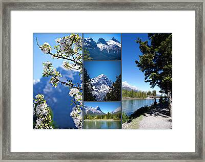 Canmore Alberta Framed Print by Lisa Knechtel