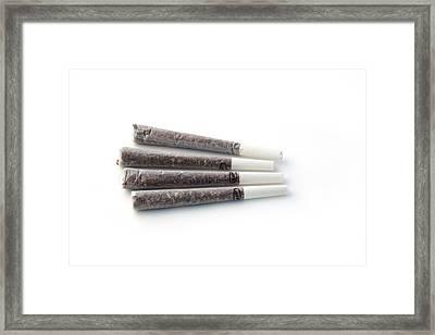 Cannabis Cigarettes Framed Print by Adam Hart-davis