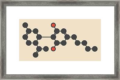 Cannabis Molecule Framed Print by Molekuul