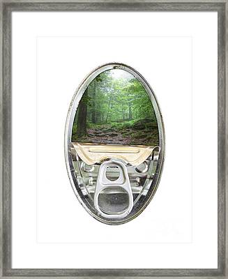 Canned Forest Framed Print by Michal Boubin
