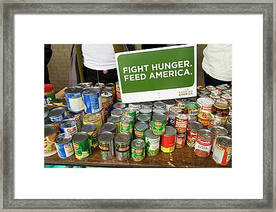 Canned Goods For Food Banks Framed Print by Jim West