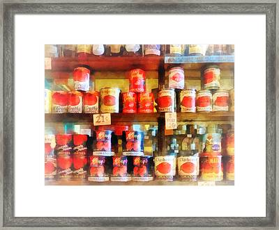 Canned Tomatoes Framed Print by Susan Savad