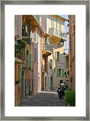 Cannes - Le Suquet - France Framed Print by Christine Till