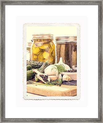 Canning Kitchen Art Framed Print by Edward Fielding