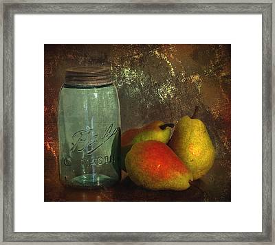 Canning Season Framed Print by Angie Vogel