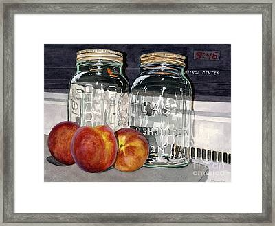 Canning Time Framed Print by Barbara Jewell