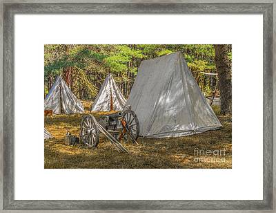 Cannon In Camp Cook Forest Framed Print by Randy Steele