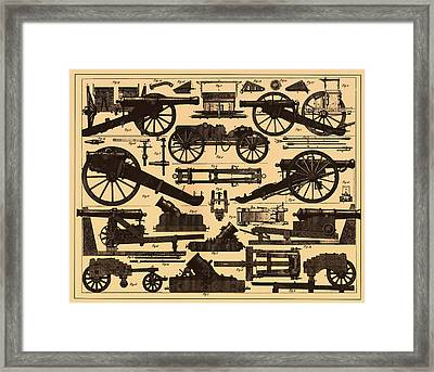 Cannon Makes And Styles 1895 Framed Print by Mountain Dreams