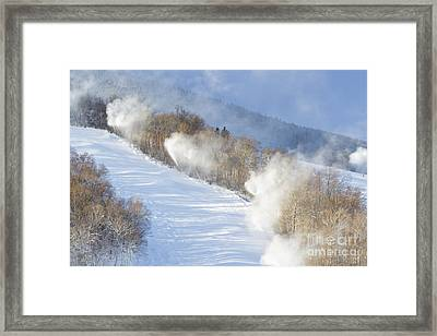 Cannon Mountain Ski Area - Franconia Notch State Park New Hampshire Framed Print by Erin Paul Donovan
