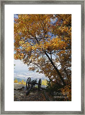 Cannon On Top Of Lookout Mountain Framed Print by Bruce Roberts