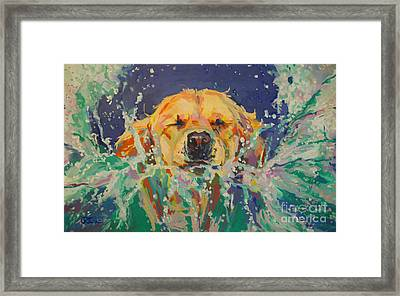 Cannonball Framed Print by Kimberly Santini