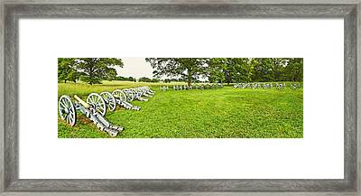 Cannons In A Park, Valley Forge Framed Print by Panoramic Images