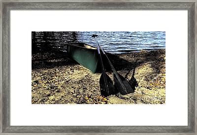 Canoe Framed Print by Cheryl Young