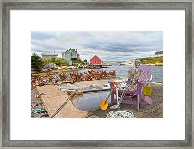 Canoe Rides For One Dollar Framed Print by Betsy C Knapp