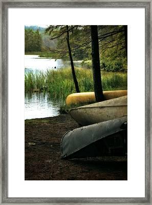 Canoe Trio Framed Print by Michelle Calkins