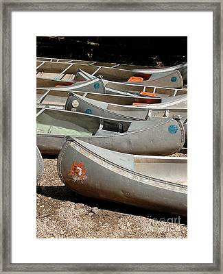 Canoes 143 Framed Print by Gary Gingrich Galleries