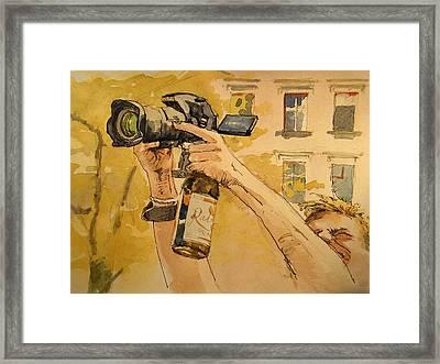 Canon Eos Street Framed Print by Juan  Bosco
