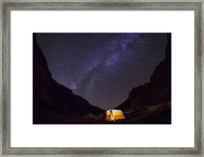 Canopy Of Stars Framed Print by Aaron S Bedell